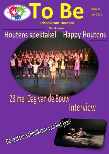 To Be Schoolkrant Houtens Editie 3 Juni 2011