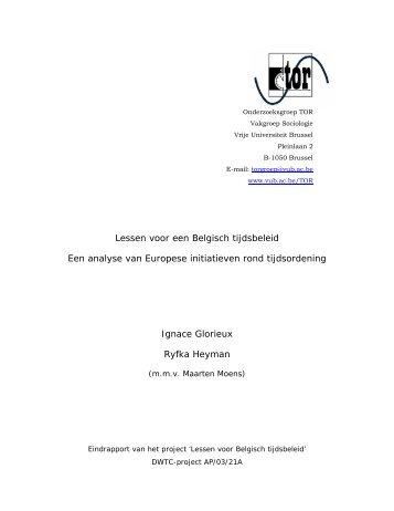 Lessen voor een Belgisch tijdsbeleid Een analyse van Europese ...