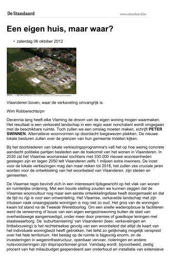 Een eigen huis, maar waar? - Vlaams Bouwmeester