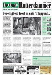 Gezelligheid troef in café 't Tappunt… - De Oud Rotterdammer