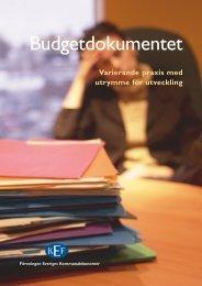 Budgetdokumentet - Kef