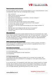 Meest gestelde vragen portering De meest gestelde ... - VB Telecom