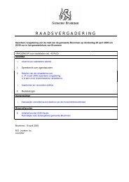 RAADSVERGADERING - Gemeente Brummen