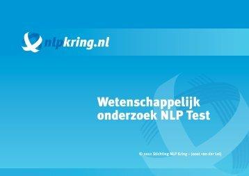Wetenschappelijk onderzoek NLP Test - NLP & Wetenschap