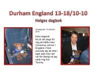 Helges dagbok i Durham