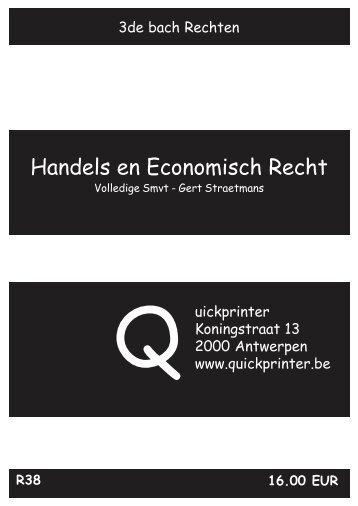 Handels en Economisch Recht - Quickprinter