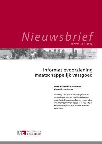 Informatievoorziening maatschappelijk vastgoed - Hospitality ...