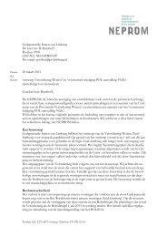 reactie ontwerp verordening wonen limburg - Neprom