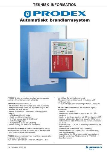 Automatiskt brandlarmsystem - Hedengren Security