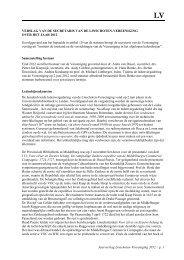 Verslag van de secretaris - Linschoten-Vereeniging