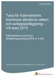 VA-taxa 2013 - Katrineholms kommun