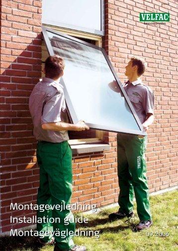 Montagevejledning Installation guide Montagevägledning ...