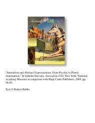 Surrealism and Abstract Expressionism: From ... - Robert Hobbs