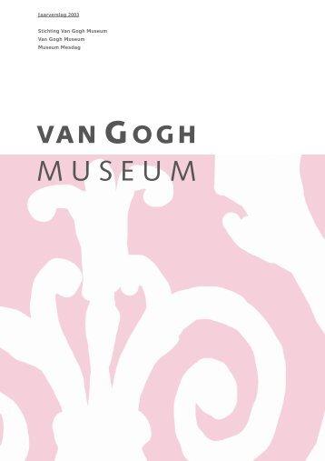 VGM/jaarverslag voor PDF 2003 - Van Gogh Museum