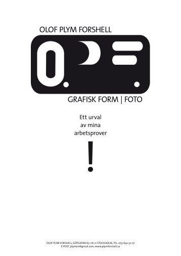 Ladda ner PDF med min portfolio - Olof Plym Forshell Grafisk ...