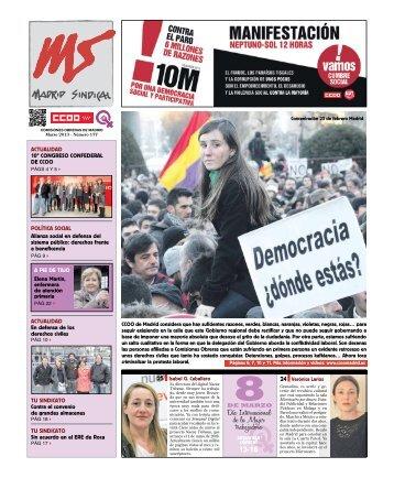 MADRID SINDICAL. MARzo 2013 - Comisiones Obreras de Madrid