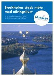 Stockholms stads möte med näringslivet - Stockholm Business Region