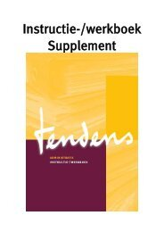 Supplement_AD_Instructie-/werkboek - Tendens