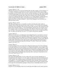 Leesrooster De Bijbel in 4 jaar… januari 2011 - Marcuskerk