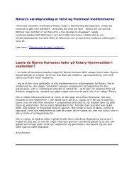 Oktober 2007 - Rotary Danmark