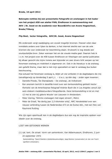 Breda, 10 april 2012 Beknopte notities bij een presentatie Fotografie ...