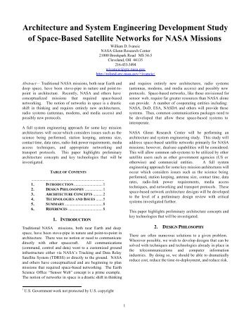 Architecture and System Engineering ... - Server Contents - Nasa
