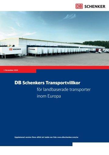 Transportvillkor - Schenker: privatpaket.se