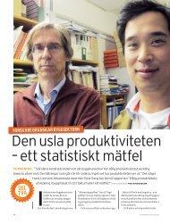 den usla produktiviteten – ett statistiskt mätfel - Publikationer från ...