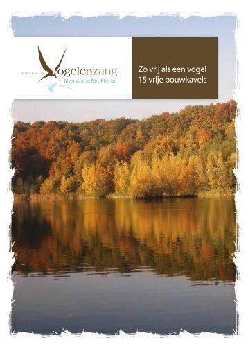 Brochure boekje kavels Vogelenzang.pdf - Woneninvogelenzang.nl