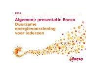 Algemene presentatie Eneco Duurzame energievoorziening voor ...