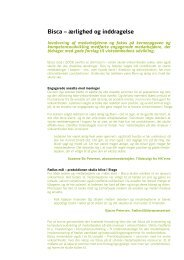 Bisca – ærlighed og inddragelse - Social Kapital
