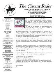Latest Circuit Rider newsletter - Columbus First United Methodist ...