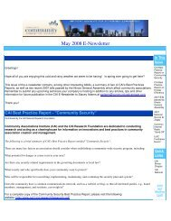 May 2008 E-Newsletter - CAI - Illinois.org