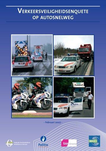 Verkeersveilig- heidsenquete op autosnelweg - Federale politie