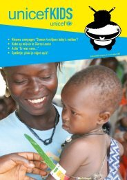 """• Nieuwe campagne """"Samen 4 miljoen baby's redden ... - UNICEF"""
