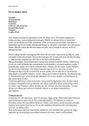 Innehåll i Första hjälpen lådan - Pedagog Stockholm