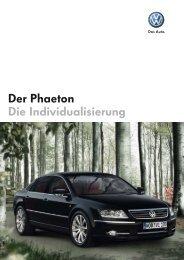 Der Phaeton Die Individualisierung - Autohaus Perski ohg