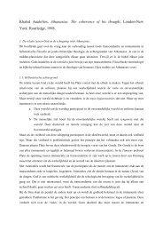 Khaled Anatolios, Athanasius. The coherence of ... - Bart van Egmond