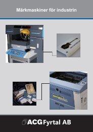 Märkmaskiner för industrin - ACG Fyrtal AB