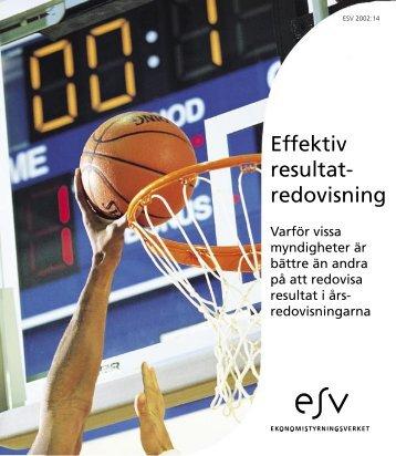 Effektiv resultatredovisning - Ekonomistyrningsverket
