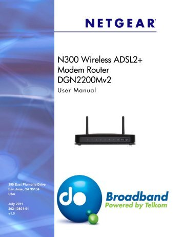 N300 Wireless ADSL2+ Modem Router ... - Telkom Residential