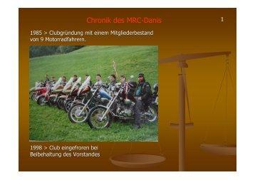 Chronik des MRC-Danis