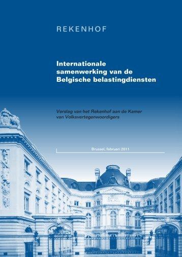 Internationale samenwerking van de Belgische belastingdiensten.