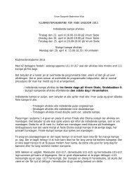 KLUBMESTERSKABERNE FOR VSBK UNGDOM 2013. Indledende ...