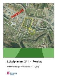 Du kan se Lokalplan nr. 241 her (pdf. åbner i nyt ... - Nyborg Kommune