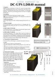 DC-UPS LDR40 manual - Elrond komponent