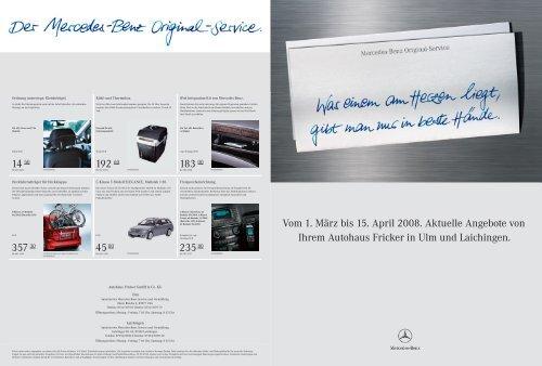 Vom 1. März bis 15. April 2008. Aktuelle Angebote von Ihrem ...