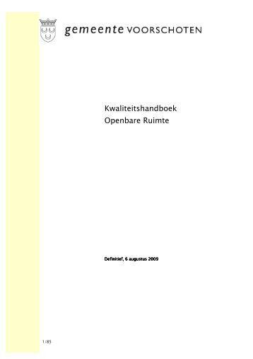 Kwaliteitshandboek Openbare Ruimte - Oosterstraat