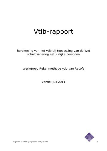 het rapport Vtlb - Wsnp - Raad voor Rechtsbijstand