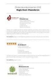 Ondersteunde projecten 2012 Regio Oost-Vlaanderen - Welzijnszorg